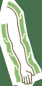 Bracciale a camere parzialmente sovrapposte CPS MESIS per PressoSport®